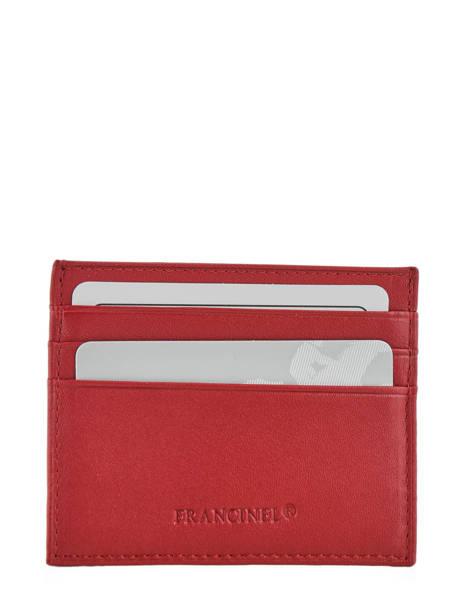 Porte-monnaie Cuir Francinel Rouge venise lisse 37902