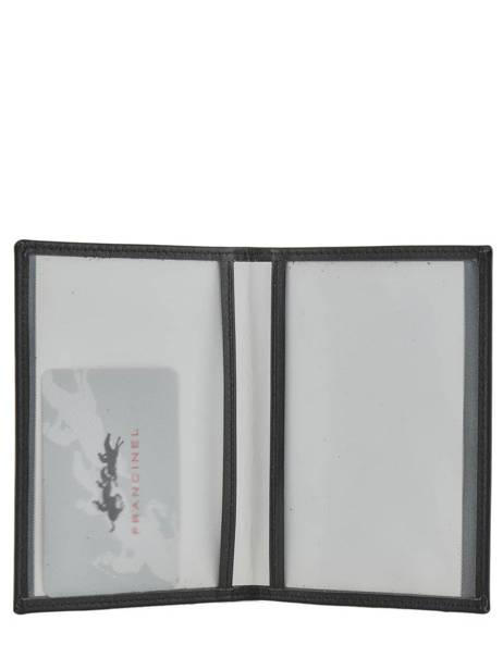 Porte Papiers Cuir Francinel Noir venise lisse 37940 vue secondaire 2