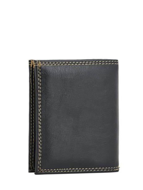 Portemonnee Miniprix Zwart lisse B6352 ander zicht 1