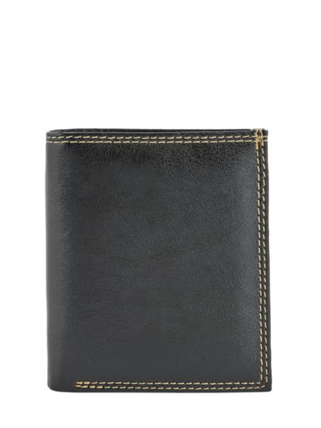 Portemonnee Miniprix Zwart lisse B6352