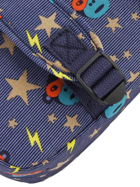 Boekentas 1 Compartiment Kipling Blauw back to school 13571 ander zicht 1