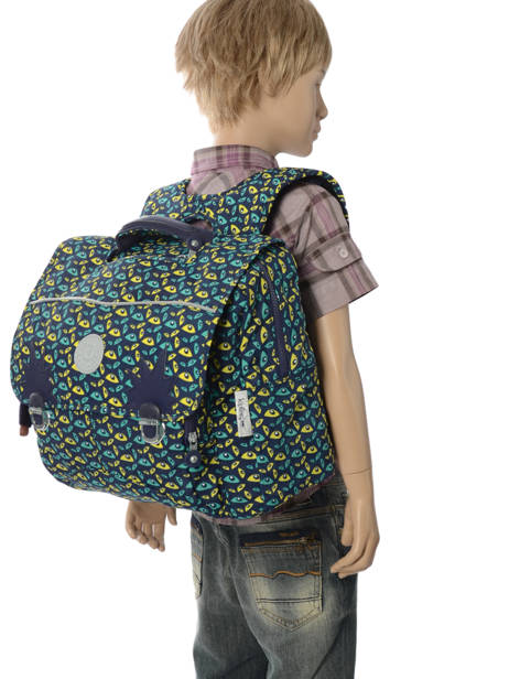 Boekentas 2 Compartimenten Kipling Blauw back to school Iniko - 21092 ander zicht 3