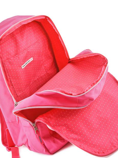 Rugzak 2 Compartimenten Pepe jeans Roze kasandra 60624 ander zicht 4