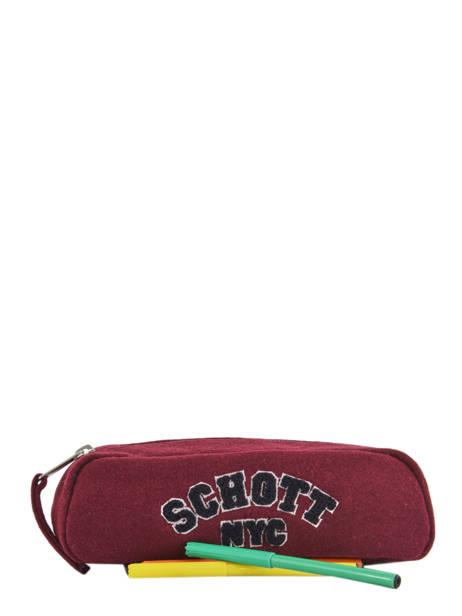 Trousse 1 Compartiment Schott Rouge college 18-11724 vue secondaire 1