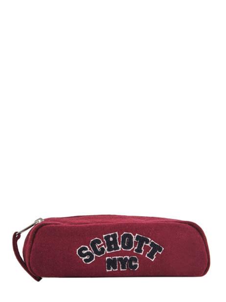 Trousse 1 Compartiment Schott Rouge college 18-11724