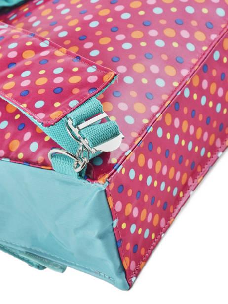 Boekentas 1 Compartiment A4 Formaat Les skewies Roze glossy HYBRIDE ander zicht 1