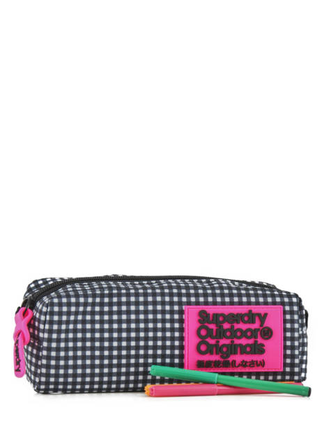 Trousse 1 Compartiment Superdry Noir accessories woomen G98120NQ vue secondaire 1
