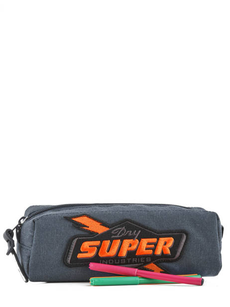 Trousse 1 Compartiment Superdry Bleu accessories men M91012NQ vue secondaire 1