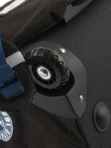 Cartable à Roulettes 2 Compartiments Olympique de marseille Bleu droit au but 183O203R vue secondaire 2