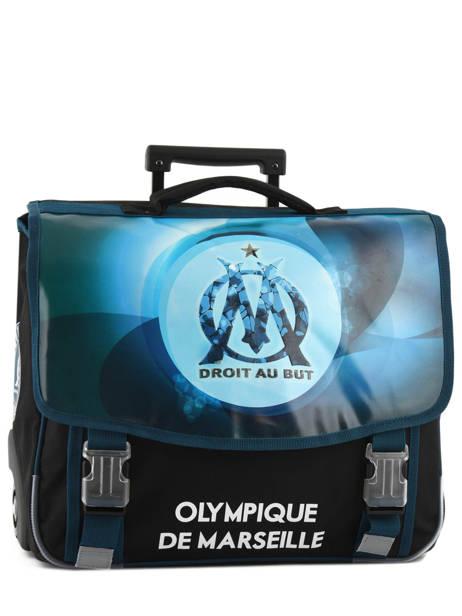 Cartable à Roulettes 2 Compartiments Olympique de marseille Bleu droit au but 183O203R