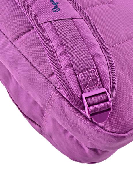 Sac à Dos 2 Compartiments Pepe jeans Violet harlow 66824 vue secondaire 3