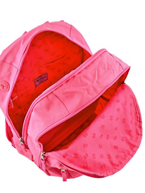 Rugzak 2 Compartimenten Pepe jeans Roze harlow 66824 ander zicht 6