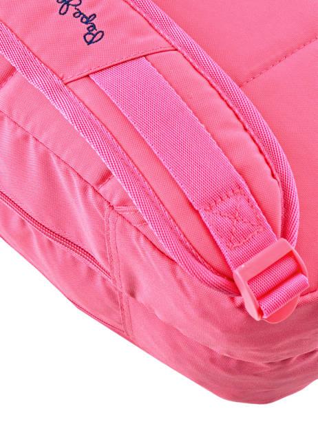 Rugzak 2 Compartimenten Pepe jeans Roze harlow 66824 ander zicht 2