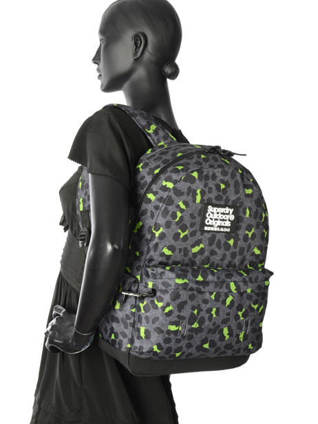 Sac à Dos 1 Compartiment Superdry Noir backpack woomen G91001JR vue secondaire 2
