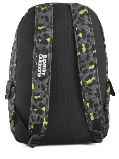 Sac à Dos 1 Compartiment Superdry Noir backpack woomen G91001JR vue secondaire 3