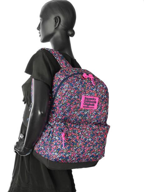 Sac à Dos 1 Compartiment Superdry Rose backpack woomen G91007JR vue secondaire 2