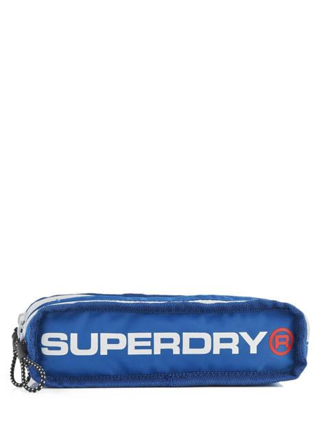 Trousse 2 Compartiments Superdry Noir accessories men M98006SR