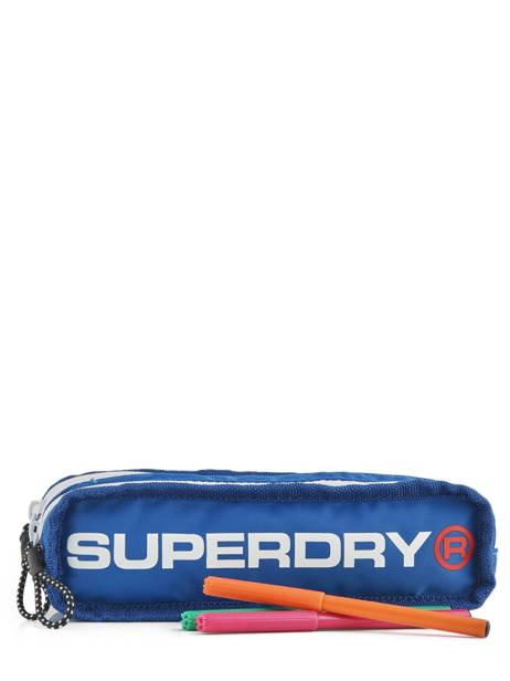 Trousse 2 Compartiments Superdry Noir accessories men M98006SR vue secondaire 1
