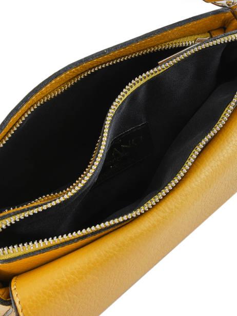 Sac Bandoulière Caviar Cuir Milano Jaune caviar CA17068 vue secondaire 3