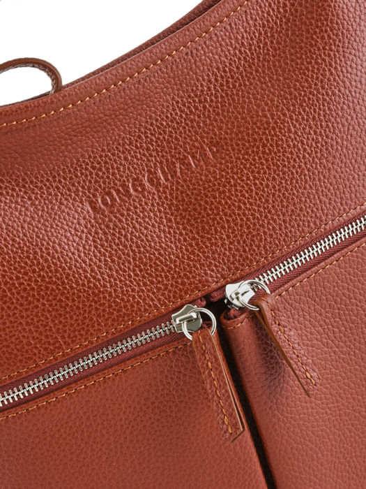 Longchamp Sac porté travers Marron