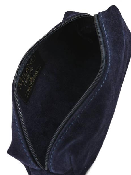 Trousse Cuir Milano Bleu velvet VE151101 vue secondaire 2