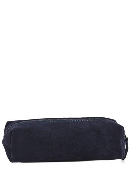 Trousse Cuir Milano Bleu velvet VE151101 vue secondaire 1