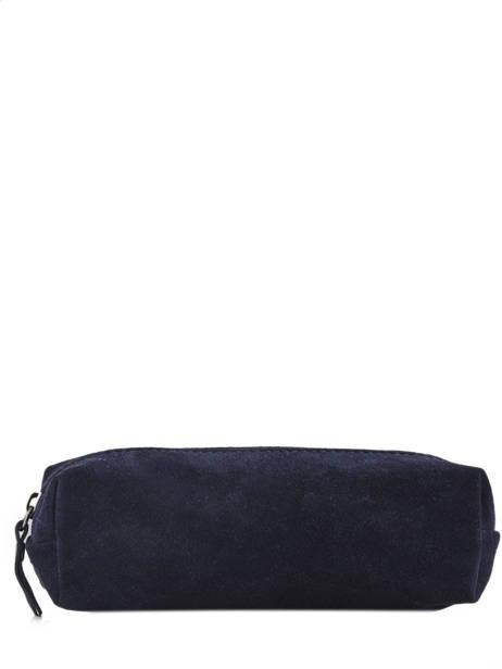 Trousse Cuir Milano Bleu velvet VE151101