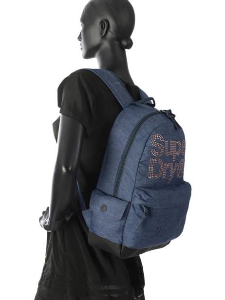 Rugzak 1 Compartiment Superdry Blauw backpack woomen G91007MR ander zicht 3