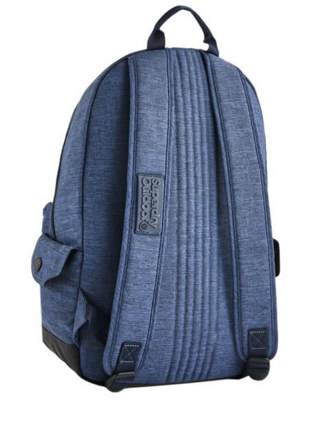 Rugzak 1 Compartiment Superdry Blauw backpack woomen G91007MR ander zicht 4