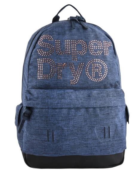 Rugzak 1 Compartiment Superdry Blauw backpack woomen G91007MR