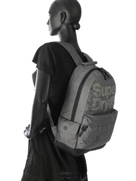 Sac à Dos 1 Compartiment Superdry Gris backpack woomen G91007MR vue secondaire 3