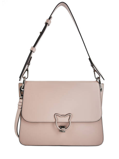 Sac Bandoulière Cat Lock Cuir Karl lagerfeld Rose cat lock 86KW3104