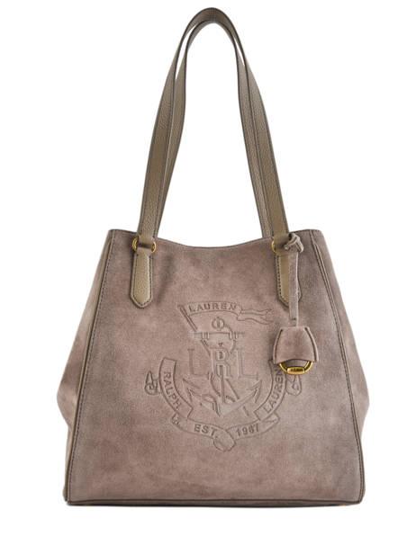 Sac Shopping Huntley Cuir Lauren ralph lauren Marron huntley 31720557