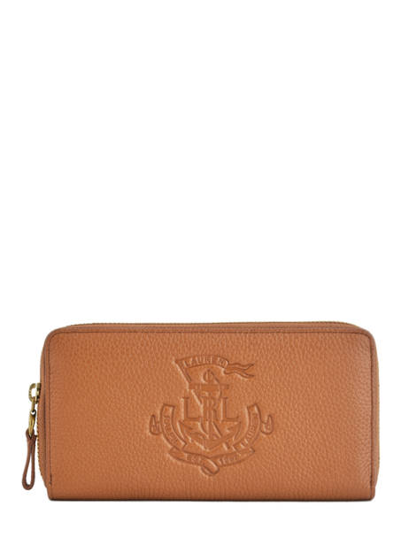 Portefeuille Cuir Lauren ralph lauren Marron huntley 32707744