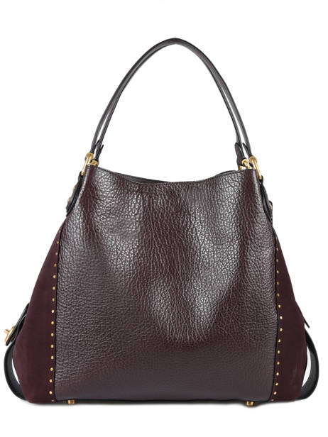 Sac Shopping Edie Cuir Coach Rouge edie 32988