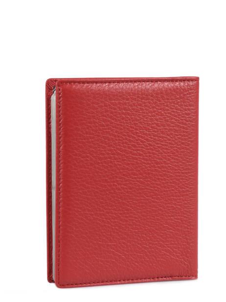 Porte Cartes Toucher Cuir Hexagona Rouge toucher 627075 vue secondaire 2