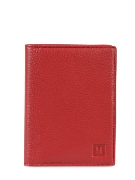 Porte Cartes Toucher Cuir Hexagona Rouge toucher 627075