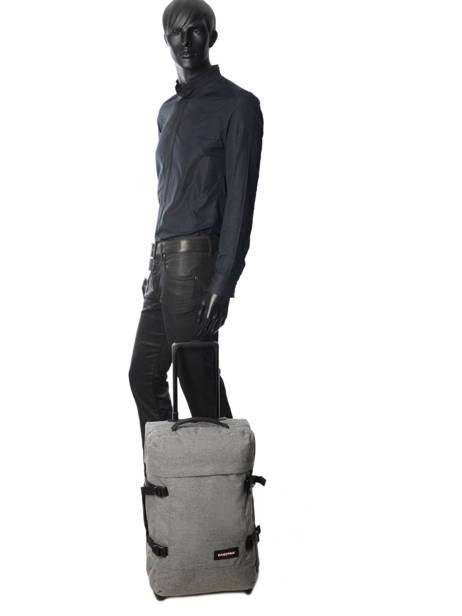 Handbagage Rugzak Eastpak Grijs authentic luggage K96L ander zicht 2
