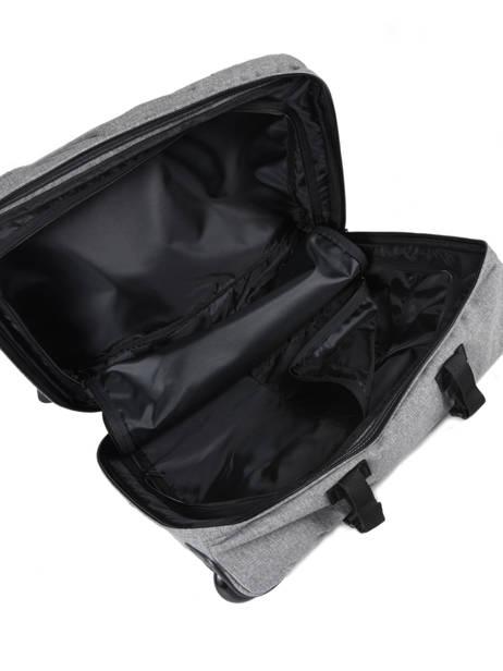 Handbagage Rugzak Eastpak Grijs authentic luggage K96L ander zicht 4