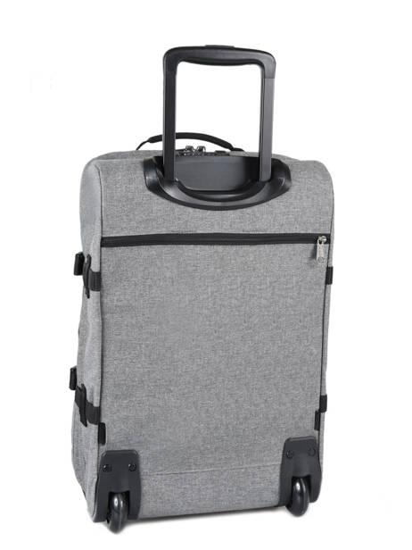 Handbagage Rugzak Eastpak Grijs authentic luggage K96L ander zicht 3