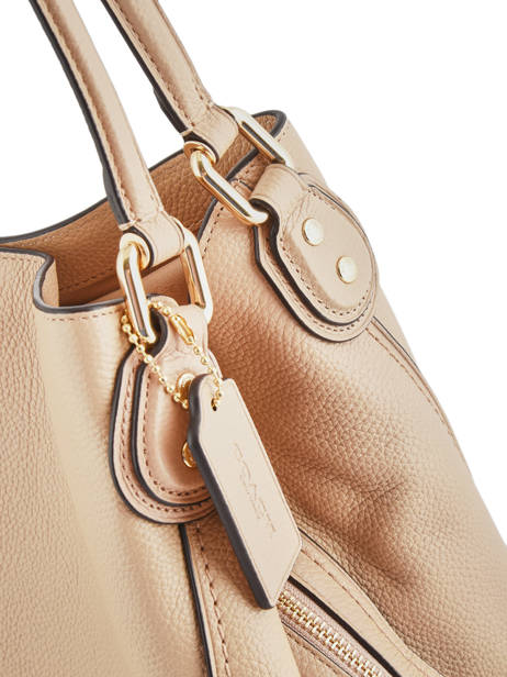 Sac Shopping Edie 31 Cuir Coach Beige edie 57125 vue secondaire 2