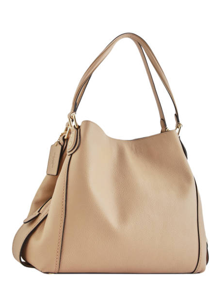 Sac Shopping Edie 31 Cuir Coach Beige edie 57125 vue secondaire 4