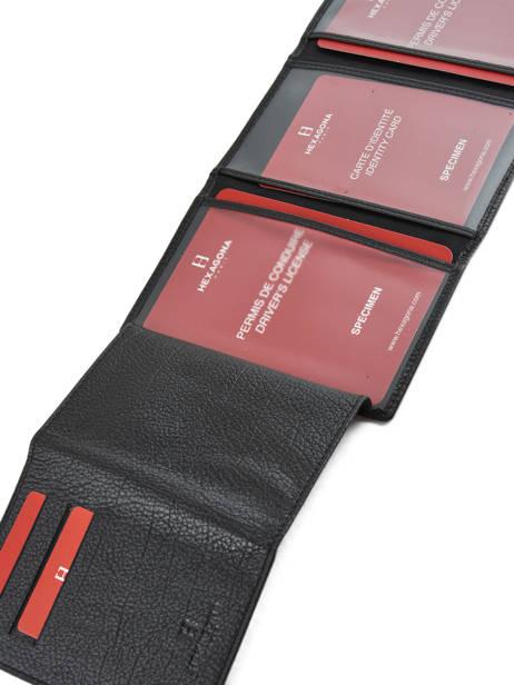 Porte-papiers Cuir Hexagona Noir encore 137661 vue secondaire 3