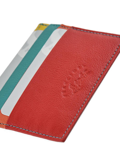 Porte-cartes Cuir Francinel Rouge cook 59902 vue secondaire 2