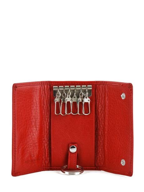 Sleutelhanger Leder Hexagona Rood toucher 627076 ander zicht 2