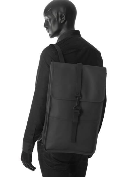 Business Rugzak Backpack Rains Zwart boston 1220 ander zicht 3
