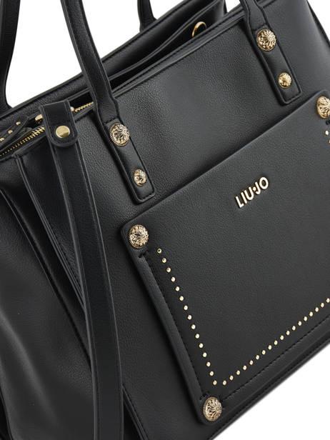 Sac Shopping Aniene Liu jo Noir aniene A19058 vue secondaire 1
