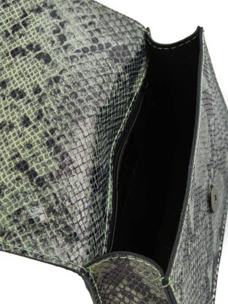 Sac Bandoulière Python Milano Vert python PI17111 vue secondaire 4