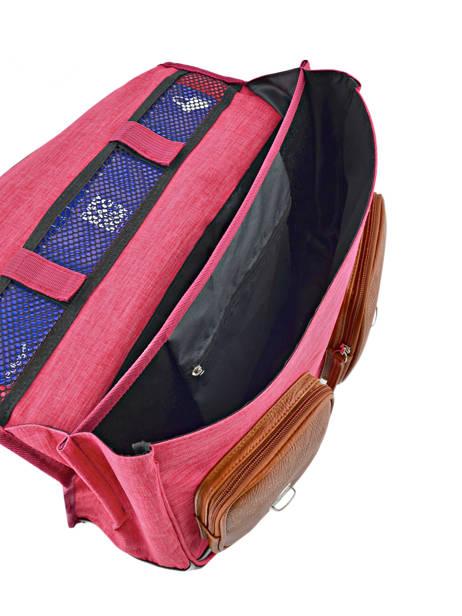 Boekentas Kind 2 Compartimenten Cameleon Roze vintage chine VIN-CA35 ander zicht 4