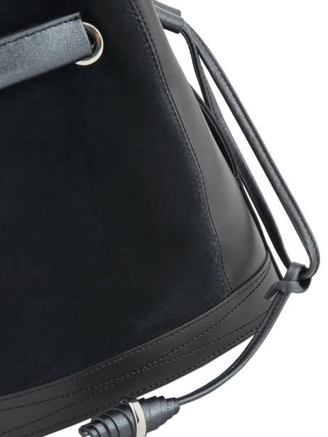 Sac Bourse M Le Huit Suède Lancel Noir le huit A09146 vue secondaire 3